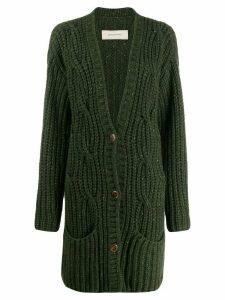 Gentry Portofino chunky knit cardigan - Green