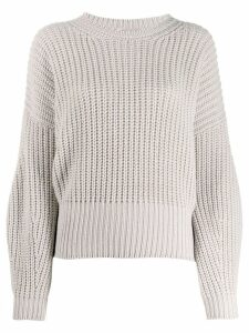 Gentry Portofino balloon sleeve jumper - NEUTRALS