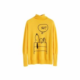 Chinti & Parker Yellow Snoopy So Cashmere Sweater
