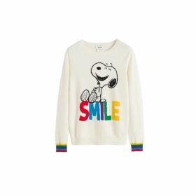 Chinti & Parker Cream Snoopy Smile Cashmere Sweater