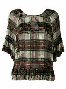 Preen By Thornton Bregazzi Vivienne tartan blouse - Black