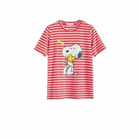 Chinti & Parker Red Snoopy Love Cotton T-shirt