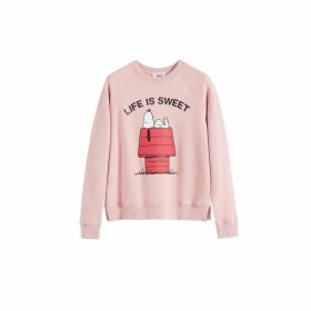 Chinti & Parker Pink Snoopy Life Is Sweet Cotton Sweatshirt