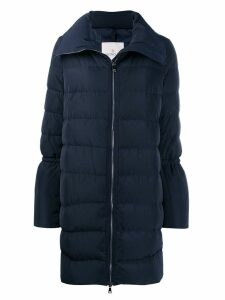 Moncler flared-sleeve puffer jacket - Blue