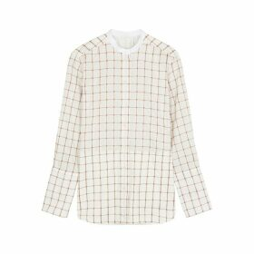Chloé Check-jacquard Cotton-blend Shirt