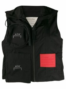 A-COLD-WALL* cropped zipped gilet - Black