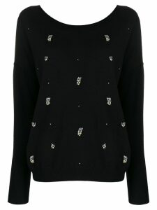 LIU JO crystal-embellished jumper - Black