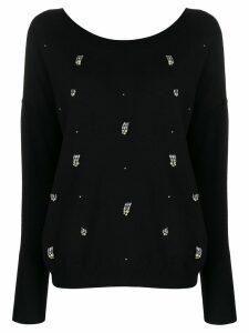 Liu Jo crystal-embellished sweatshirt - Black