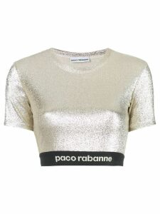 Paco Rabanne stretch lurex top - GOLD