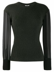 Kenzo contrast sleeve knitted top - Green