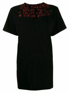 Mm6 Maison Margiela glitter embellishment oversized T-shirt - Black