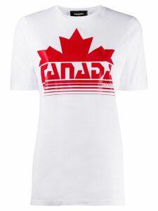 Dsquared2 Canada print T-shirt - White