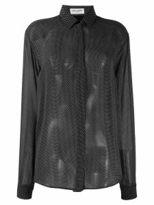 Saint Laurent sheer spotted blouse - Black