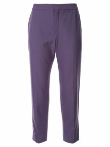 Chloé cropped tailored trousers - PURPLE