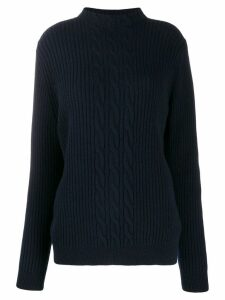 A.P.C. cable knit jumper - Blue