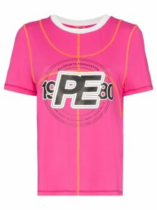 P.E Nation double dribble logo T-shirt - PINK