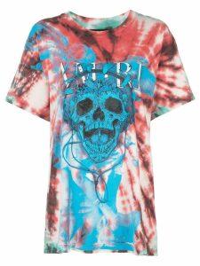 AMIRI skull print tie-dye T-shirt - Multicolour