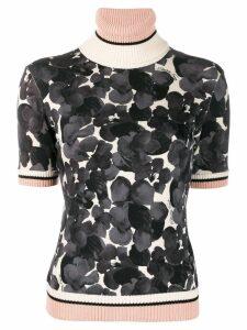 Elisabetta Franchi floral-print short sleeve jumper - Grey