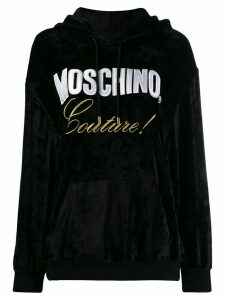 Moschino embroidered couture hoodie - Black
