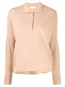 Fabiana Filippi knitted polo shirt - Neutrals
