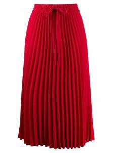 RedValentino RED(V) pleated midi skirt