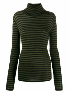 Closed roll neck sweatshirt - Black