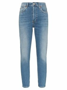 RE/DONE high-rise cropped skinny jeans - Blue