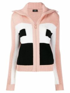 Elisabetta Franchi colour-block knit cardigan - PINK