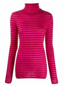 Closed roll neck sweatshirt - Red