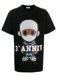 Ih Nom Uh Nit printed crew neck T-shirt - Black