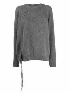 McQ Alexander McQueen tie fastened jumper - Grey