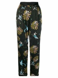 Forte Forte fairytale printed trousers - Black
