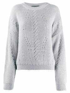 Alberta Ferretti long-sleeve knitted sweater - NEUTRALS