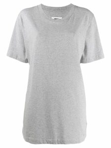 Mm6 Maison Margiela oversized printed back T-shirt - Grey