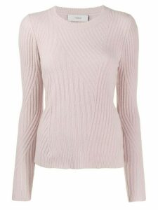 Pringle of Scotland travelling ribbed knit sweater - PINK