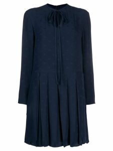 Valentino tie-neck shift dress - Blue