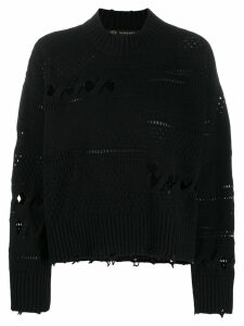 Versace distressed knitted sweater - Black
