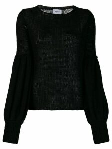Dondup balloon sleeved jumper - Black