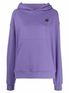 Vivienne Westwood Anglomania patch logo hoodie - PURPLE