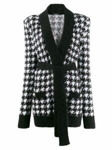 Balmain houndstooth knit cardigan - Black