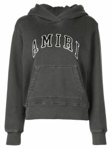 AMIRI logo patch hoodie - Grey