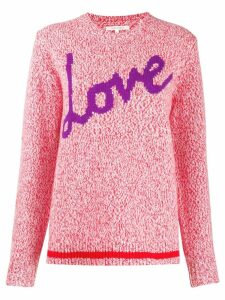 Chinti and Parker Love intarsia jumper - PINK