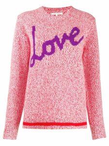 Chinti & Parker Love intarsia jumper - PINK