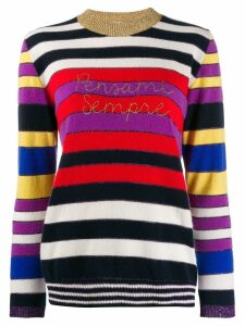 Giada Benincasa colour-block knit sweater - White