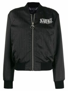 Philipp Plein Scarface bomber jacket - Black