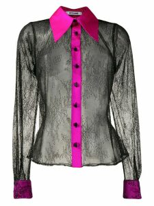 Styland floral lace shirt - Black