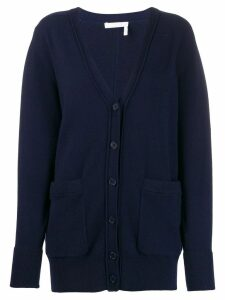 Chloé v-neck knit cardigan - Blue