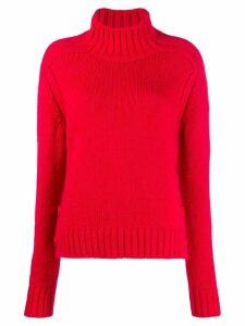 Nº21 button-embellished jumper - Red