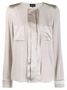 Giorgio Armani contrasting panels blouse - Grey