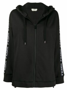 Fendi logo trim hoodie - Brown
